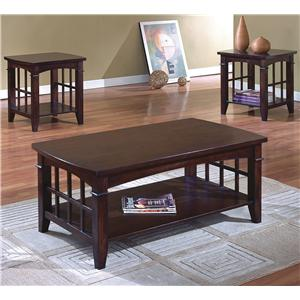 Crown Mark Camino 3 Pack Cocktail Table Set