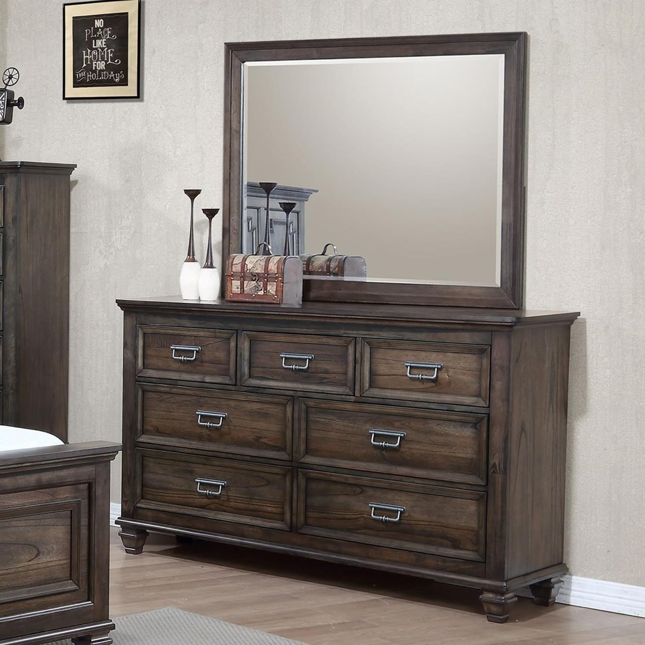 Crown Mark Campbell Dresser and Mirror Set - Item Number: B8250-1+11