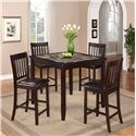 Crown Mark Cascade 5 Piece Counter Height Dinette - Item Number: 2740SET