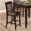 Crown Mark Cascade 5 Piece Counter Height Dinette with Faux Marble Table Top - Stool Shown