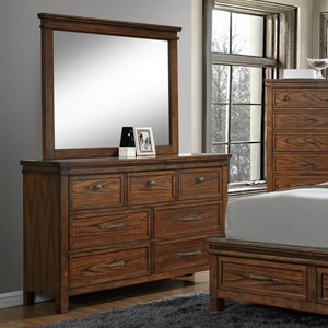 Crown Mark Cassidy Dresser and Mirror Set
