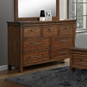 Crown Mark Cassidy Dresser with Prominent Wood Grain