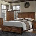 Crown Mark Cassidy King Storage Bed - Item Number: B6400-K-FBD+K-HB+KQ-RAIL