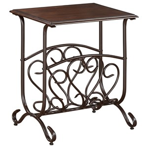 Crown Mark Chairside Tables Glenwood Chairside Table