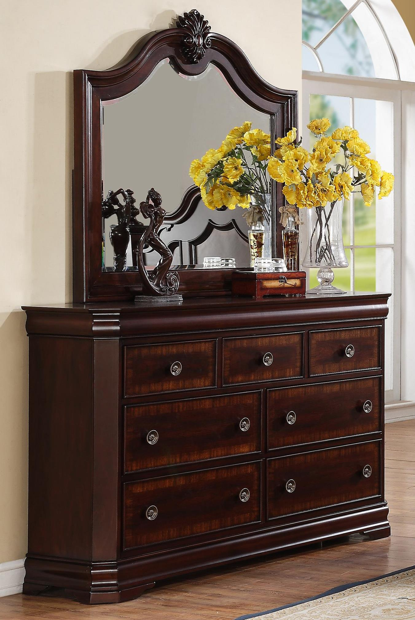 Crown Mark Charlotte Dresser and Mirror Combo - Item Number: B8300-1+11