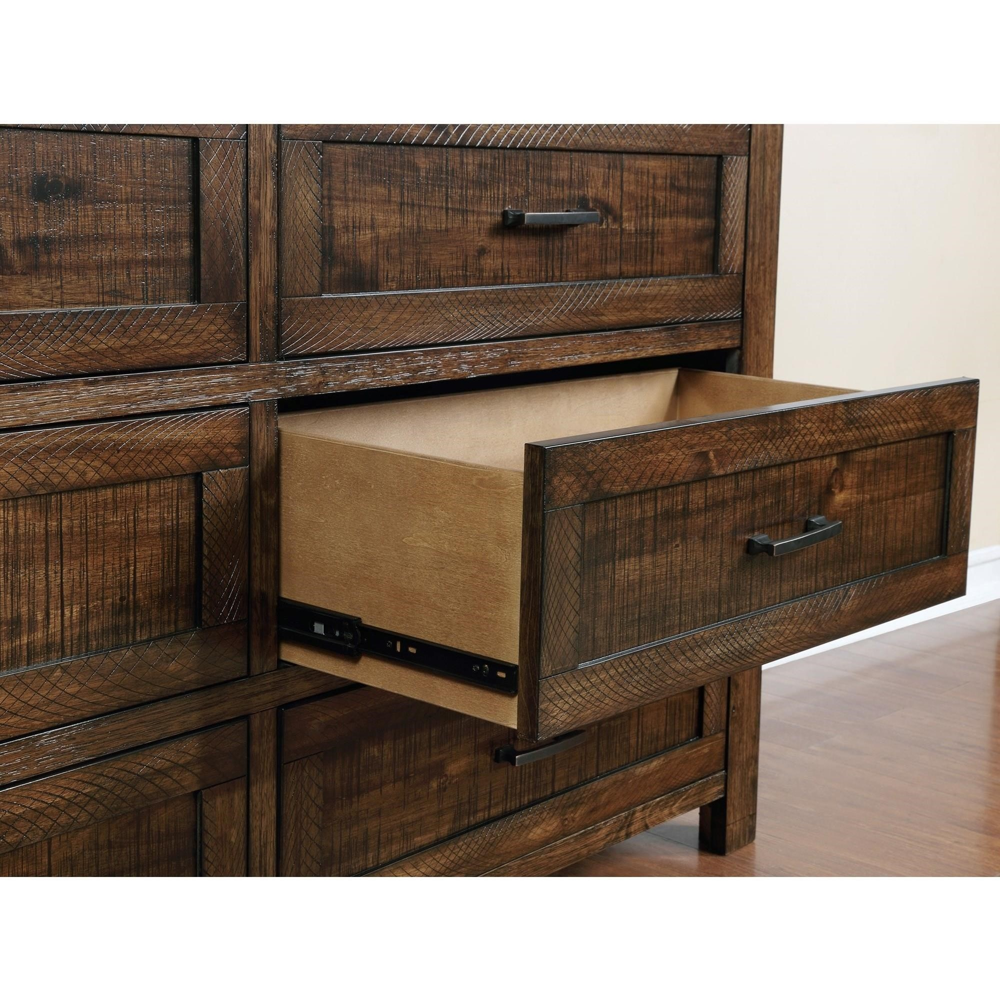 Crown Mark Christian Rustic Dresser with Six Drawers ...