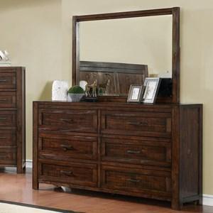 Crown Mark Christian 6-Drawer Dresser Only