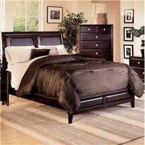 Crown Mark Claret Queen Platform Bed