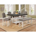Crown Mark Clover 6 Piece Counter Table and Chair/Bench Set - Item Number: 2765T-4266+4xS-24+BENCH