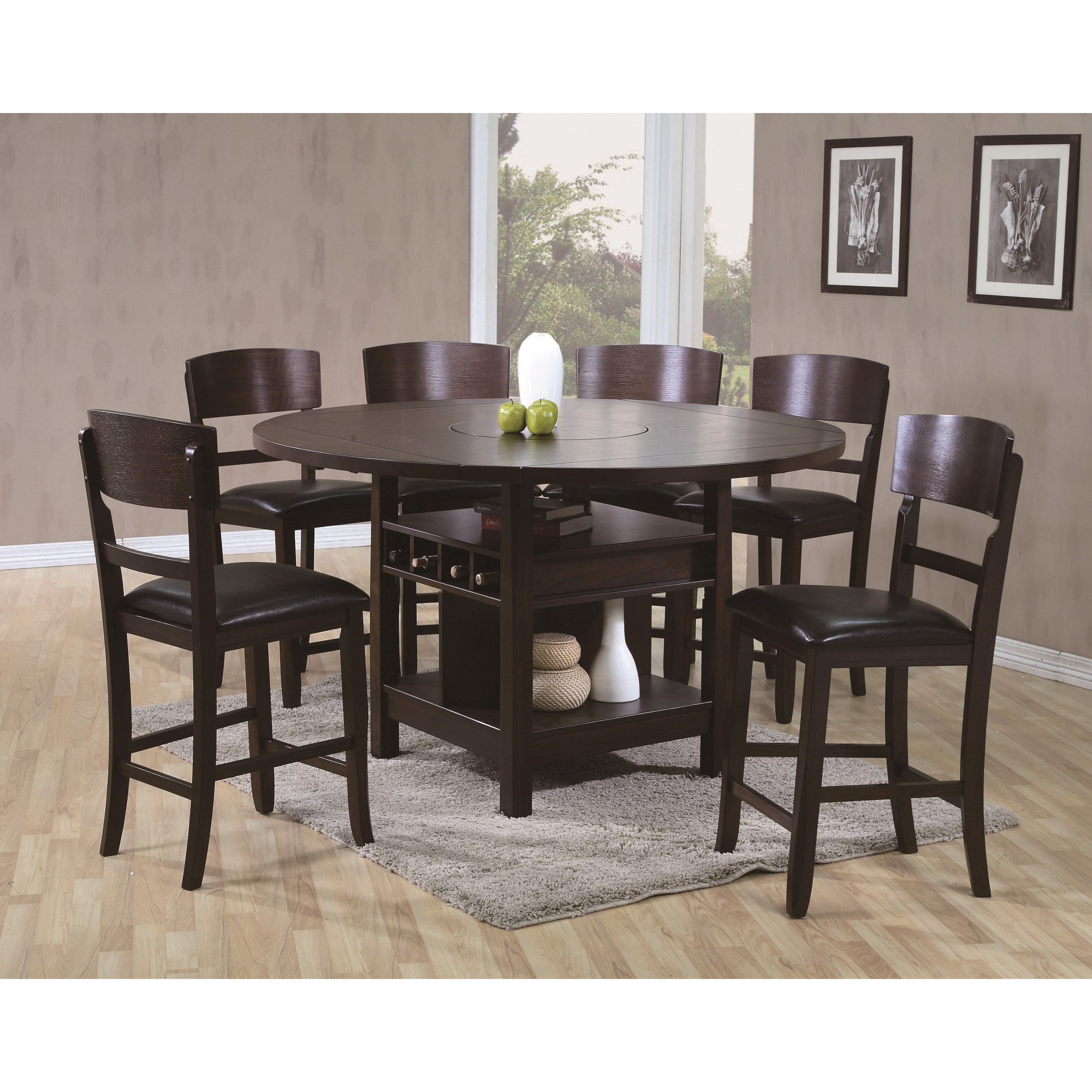 Conner  7 Piece Table and Chair Set by Crown Mark at Furniture Fair - North Carolina