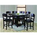 Crown Mark Conner  7 Piece Table and Chair Set - Item Number: 2849T-6060-Leg+TOP+6x2849S-24
