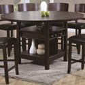 Crown Mark Conner  Counter Height Table - Item Number: 2849T-6060-Leg+TOP