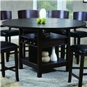 Crown Mark Conner  Contemporary Counter Height Table - Table Expanded with Fold-Out Leaves