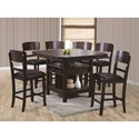 Crown Mark Conner  Contemporary Counter Height Table - Shown with Counter Height Chairs