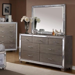 Crown Mark Cosette Dresser and Mirror Set