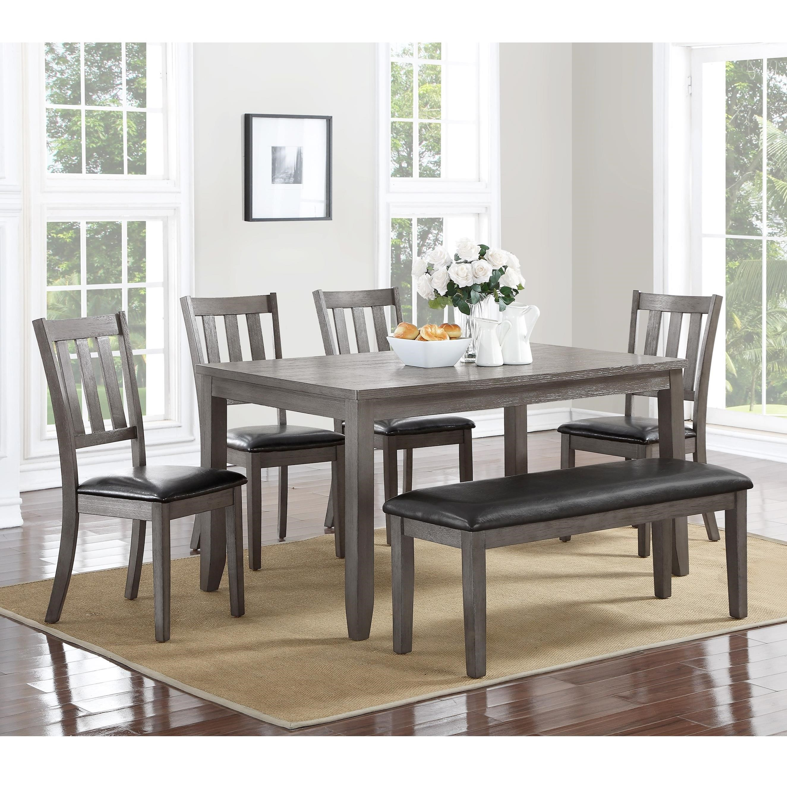 Crown Mark Cosgrove Transitional Table and Chair Set Dunk