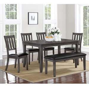 Crown Mark Cosgrove Dining Table and Chair Set