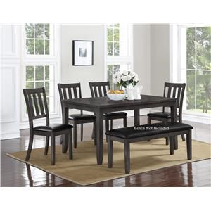 Crown Mark Cosgrove Dining Table and Chair Set  sc 1 st  Wayside Furniture & Table and Chair Sets | Akron Cleveland Canton Medina Youngstown ...