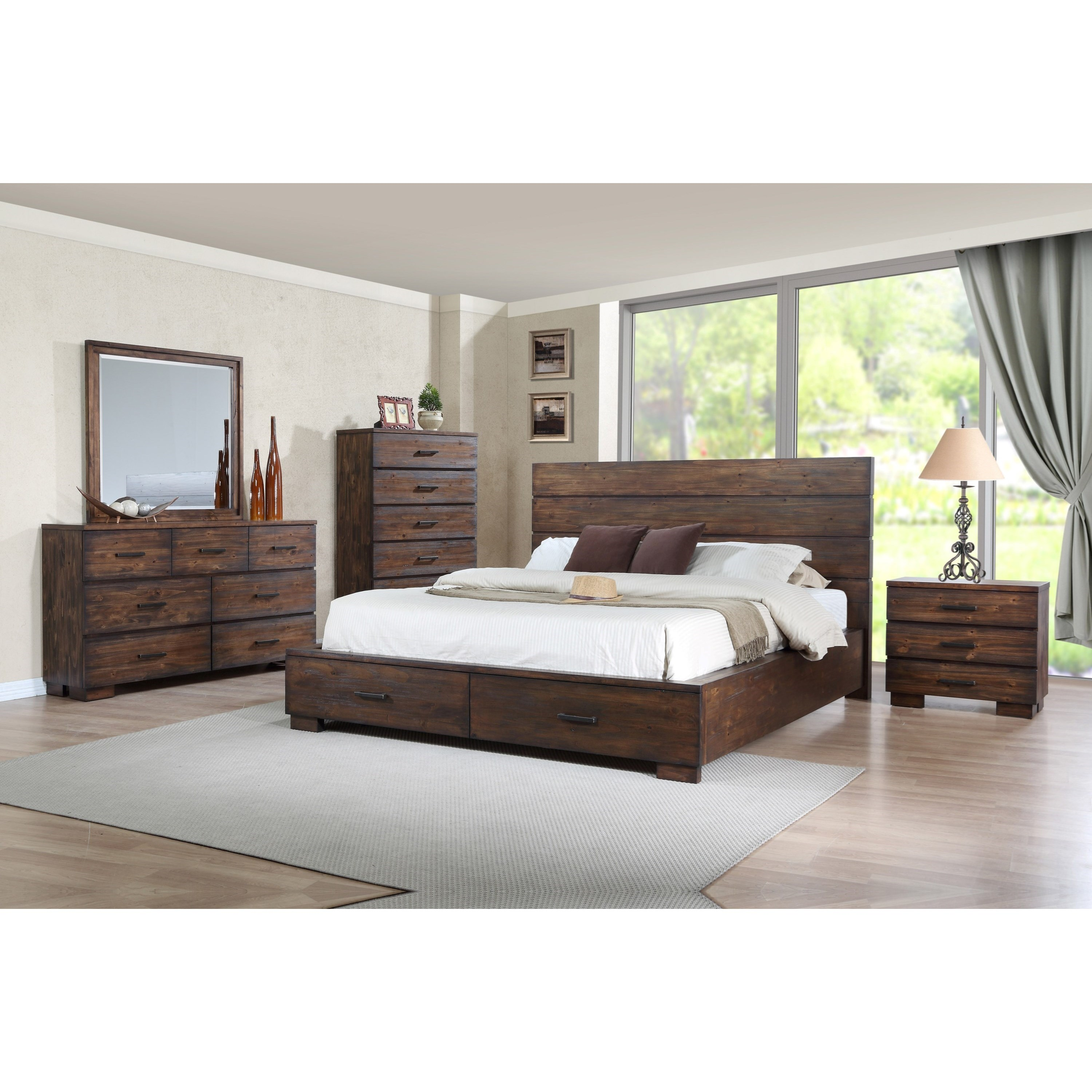 Crown Mark Cranston King Low Profile Bed