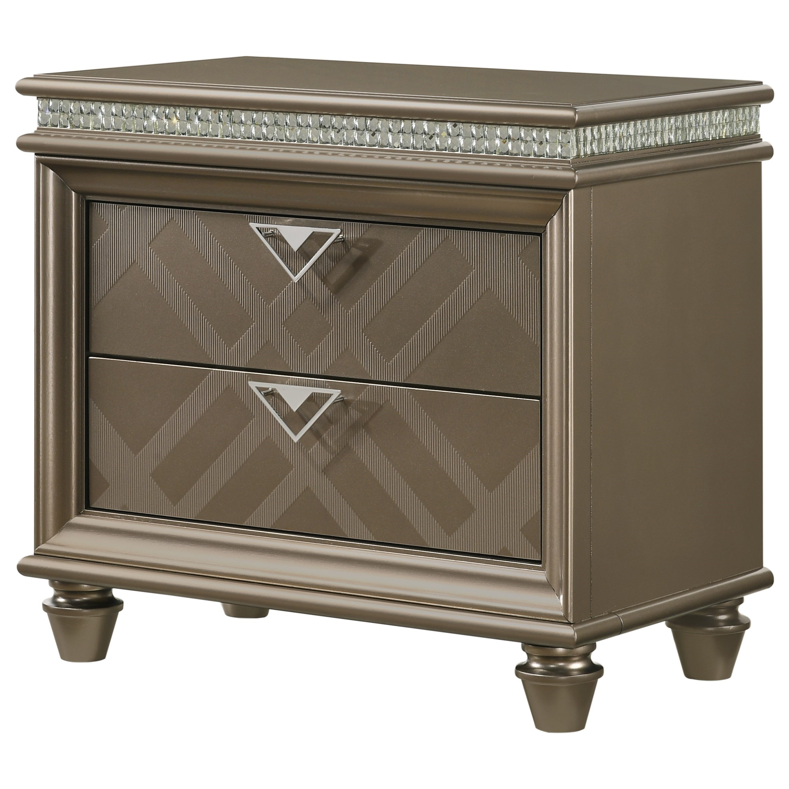 Cristal Nightstand by Crown Mark at Northeast Factory Direct