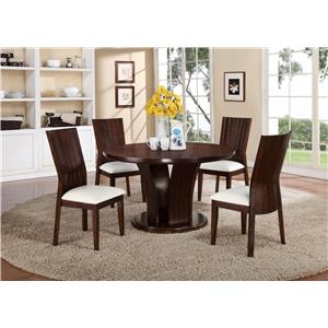 Crown Mark Daria 5 Piece Dining Set