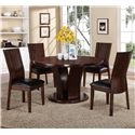 Crown Mark Daria 5 Piece Dining Set - Item Number: 2234T-54+4x2234S-ESP