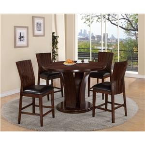 Crown Mark Daria Pub Height Dining Set