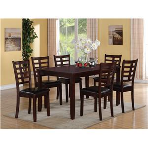 Crown Mark Darren 7-PK Dinette Set