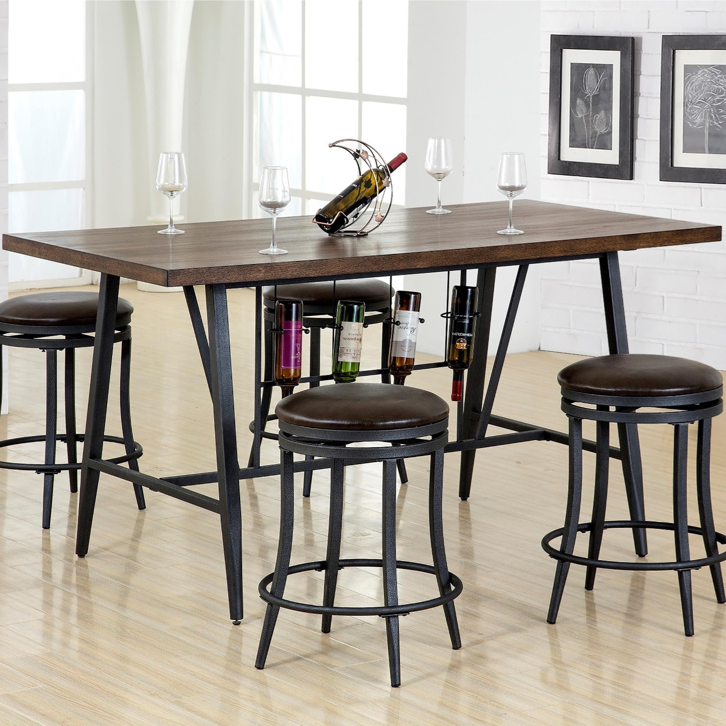 america shipping furniture today free overstock counter garden rustic nailhead cherry of height product tables brown home table banea