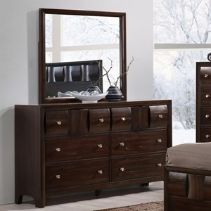 Crown Mark Delrey Dresser and Mirror Set