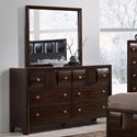 Crown Mark Delrey Dresser and Mirror Set - Item Number: B6800-1+11