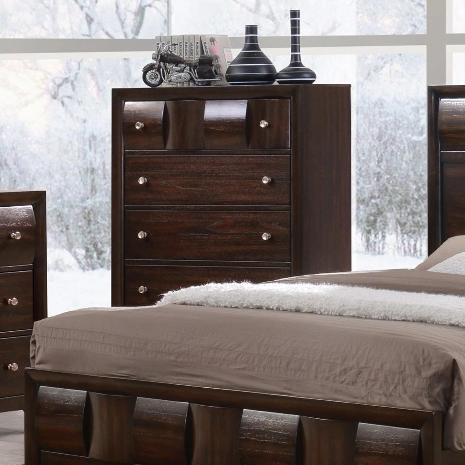 Crown Mark Delrey Chest of Drawers - Item Number: B6800-4