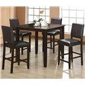 Crown Mark Derick 5 Piece Counter Height Table Set - Item Number: 2708T-4040+4x2708S-24