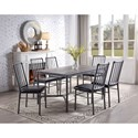 Rooms Collection One Devar 7 Piece Dining Set - Item Number: 1112T-3660+6x1112S