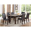Crown Mark Dominic 7 Piece Dining Set - Item Number: 2167T-3864+6xS