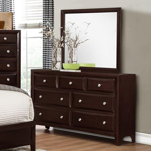 Crown Mark Donovan Dresser and Mirror Set