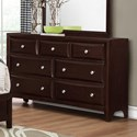 Crown Mark Donovan Dresser with Raised Drawer Fronts