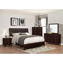 Crown Mark Donovan King Low-Profile Bed with Rich Espresso Finish - Bed Shown May Not Represent Size Indicated