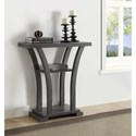 Crown Mark Draper Modern Console Table with Curved Legs