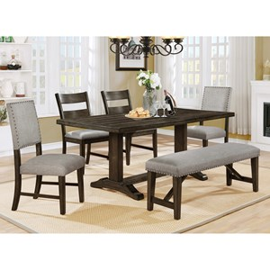 Beau Crown Mark Edwina Dining Room Table Set