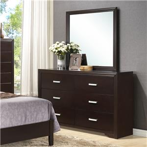 Crown Mark Elijah Dresser and Mirror Combo