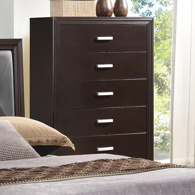 Crown Mark Elijah Transitional Chest of Drawers - Item Number: B5300-4