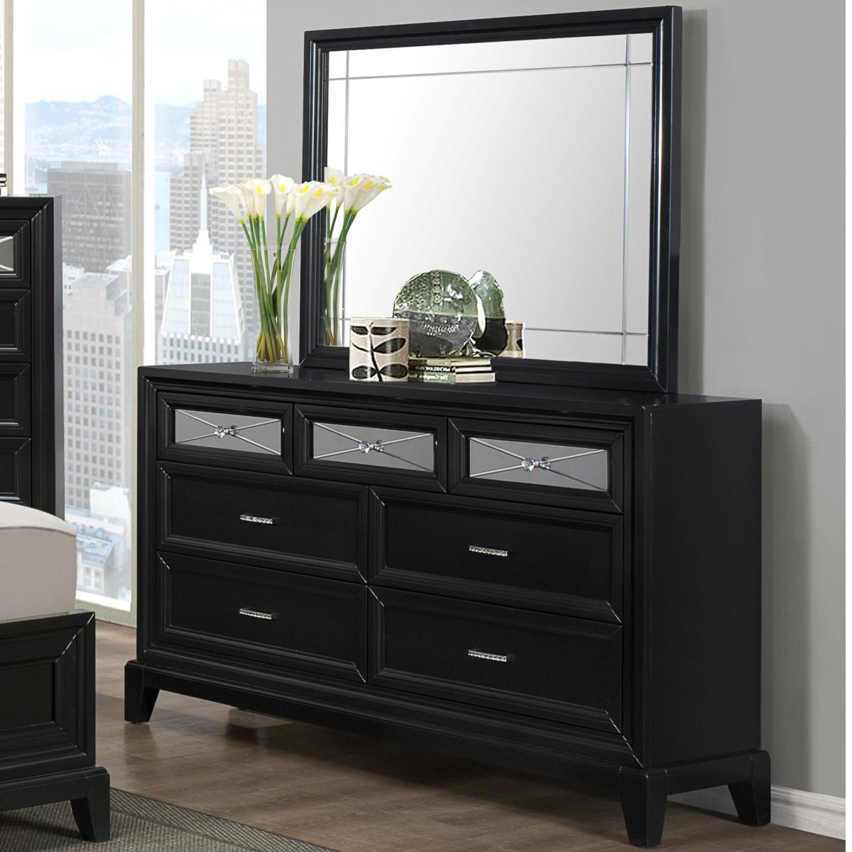 Crown Mark Elisa Dresser with Mirror - Item Number: B9300-1+11