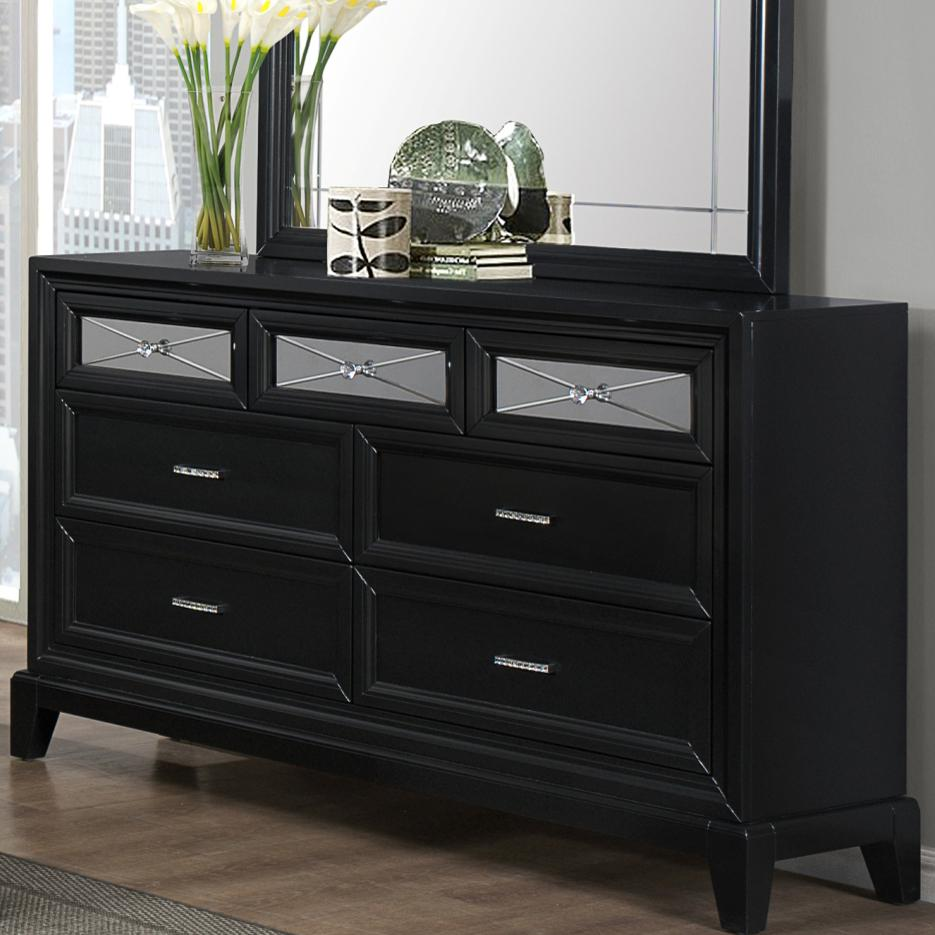 Dresser With Seven Drawers Elisa By Crown Mark Wilcox Furniture Dressers Corpus Christi