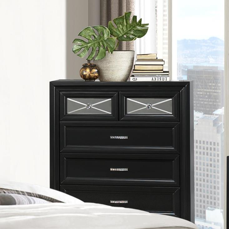 Crown Mark Elisa Chest of Drawers - Item Number: B9300-4