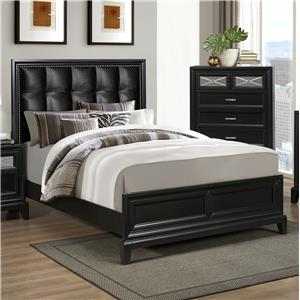 Crown Mark Elise King Upholstered Bed
