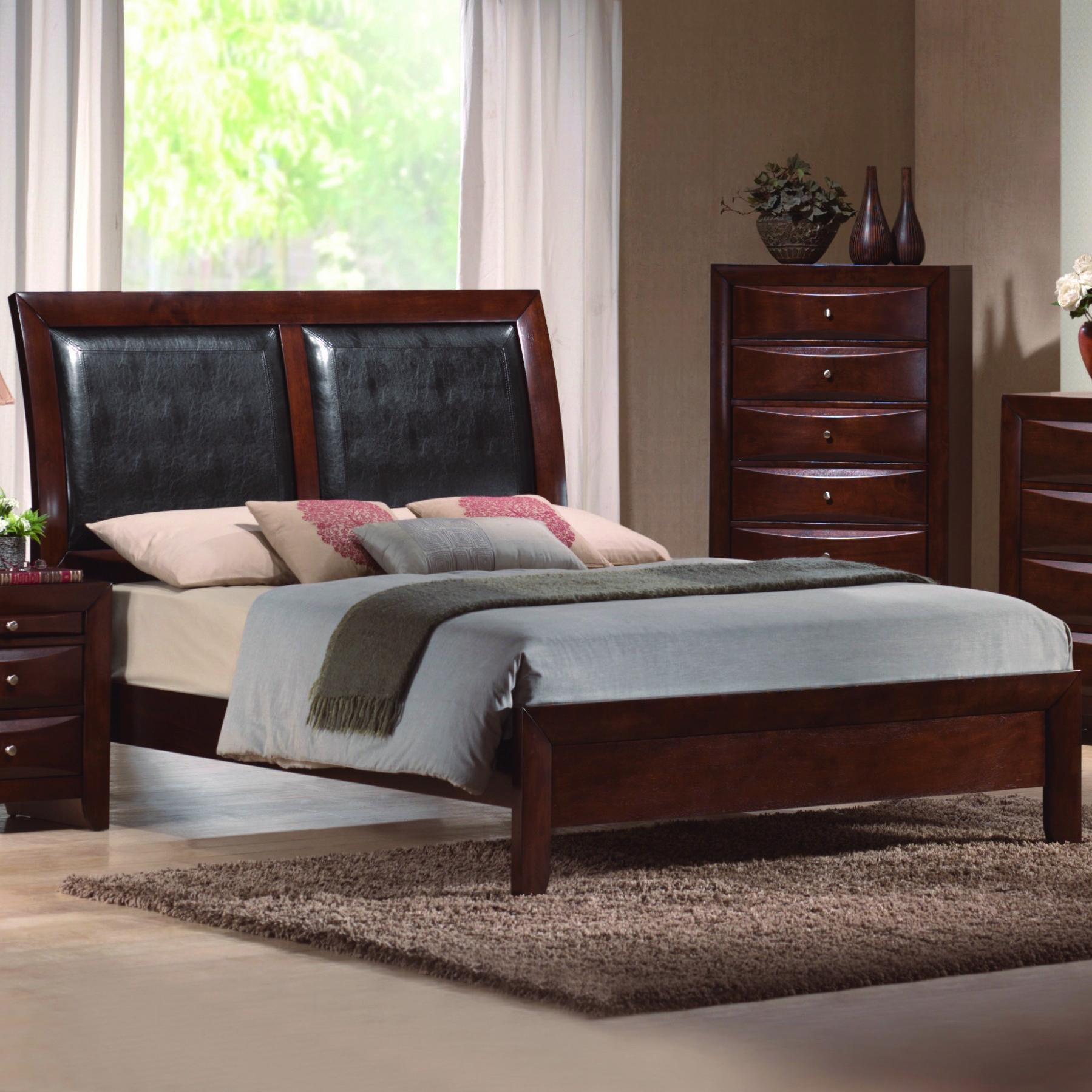 CM Emily King Platform Sleigh Bed - Item Number: B4200-K-HBFB+RAIL