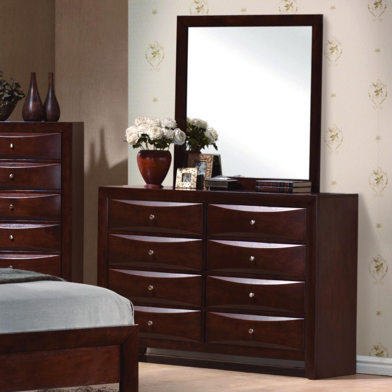 Crown Mark Farrow Queen Bedroom Group: Crown Mark Emily B4201 Contemporary 8 Drawer Dresser
