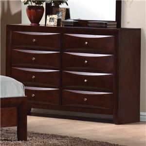 Crown Mark Emily 8-Drawer Contemporary Dresser
