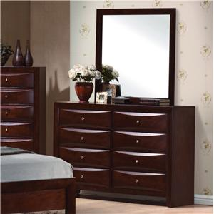 Crown Mark Emily Dresser and Mirror